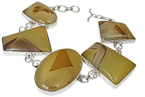 Design 11145: brown,yellow onyx bracelets