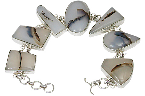 Design 11146: black,white onyx bracelets