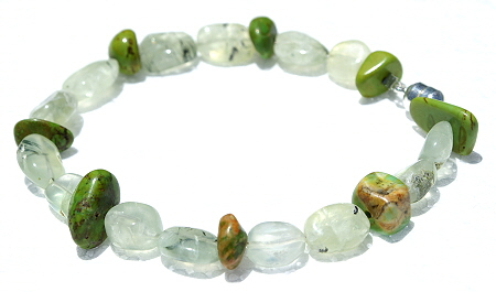 Design 11177: green,multi-color jasper bracelets