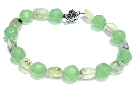 Design 11178: green chalcedony bracelets