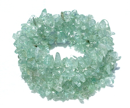 Design 11250: green crystal multistrand bracelets