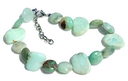Design 11432: green chrysoprase bracelets