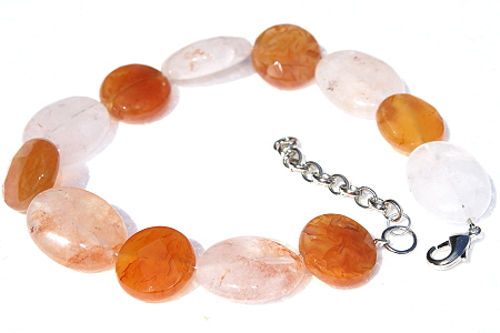 Design 11436: orange,pink,multi-color quartz chunky bracelets