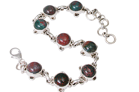 Design 11460: green,red bloodstone bracelets