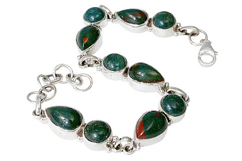 Design 11461: green,red bloodstone bracelets