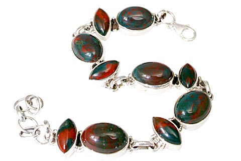 Design 11462: green,red bloodstone bracelets