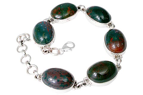 Design 11463: green,red bloodstone bracelets