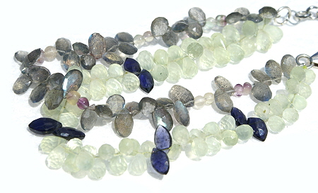 Design 11530: blue,green,gray moonstone bracelets