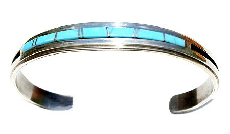 Design 11580: Blue, White turquoise bracelets