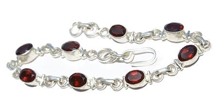 Design 11602: red garnet bracelets
