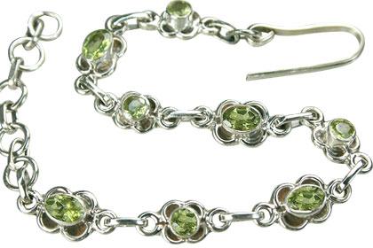 Design 11628: green peridot bracelets