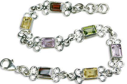 Design 11629: green,red,multi-color multi-stone bracelets