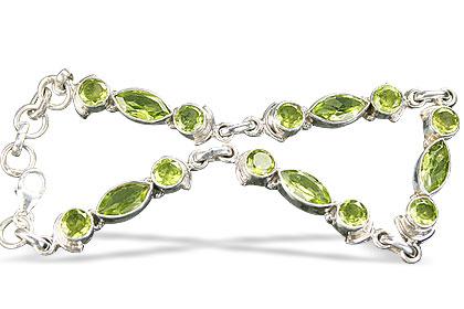 Design 11666: green peridot bracelets