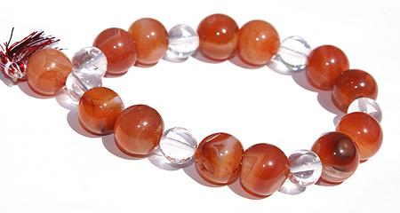 Design 11694: orange carnelian stretch bracelets