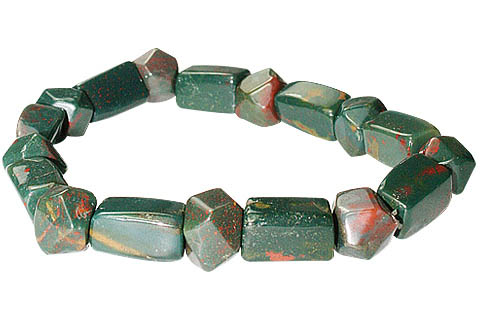 Design 11705: green,red bloodstone bracelets
