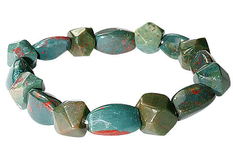 Design 11716: green,red bloodstone bracelets