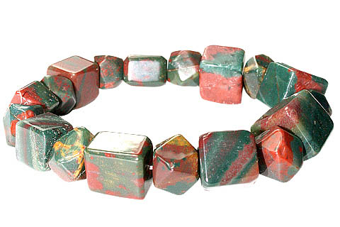 Design 11717: green,red bloodstone bracelets