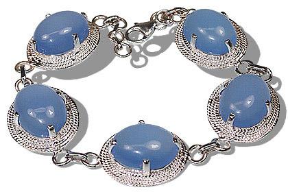 Design 12182: blue chalcedony bracelets