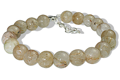 Design 12186: white golden rutile bracelets