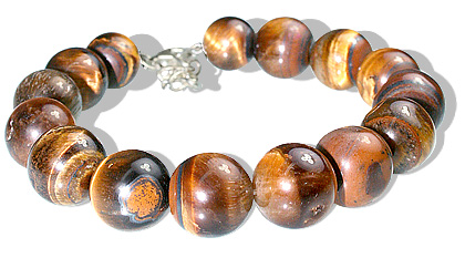 Design 12189: Brown tiger eye bracelets