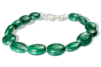 Design 12193: green malachite bracelets
