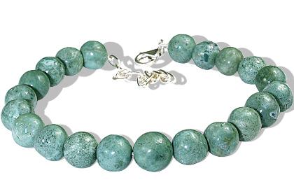 Design 12245: green jasper bracelets