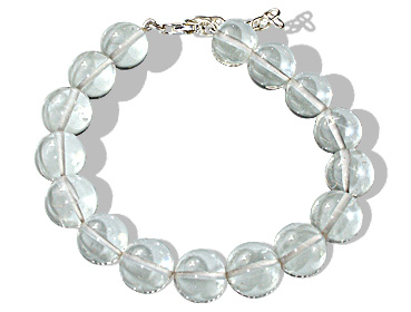 Design 12254: white crystal bracelets