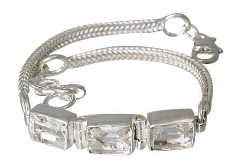 Design 12306: white crystal bracelets