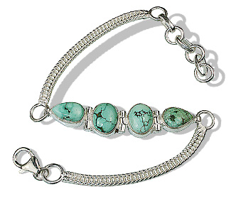 Design 12713: blue,green turquoise gothic-medieval bracelets