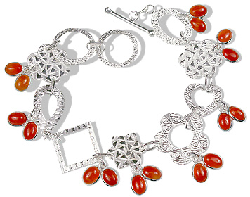 Design 12926: orange carnelian contemporary bracelets