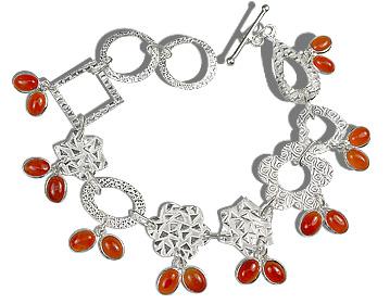 Design 12929: orange carnelian contemporary bracelets