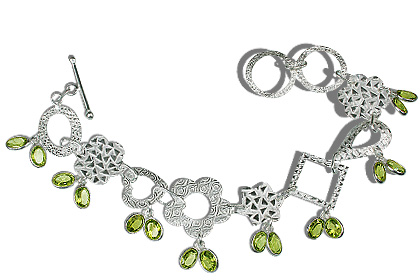 Design 12934: green peridot contemporary bracelets