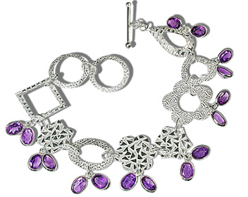 Design 12937: purple amethyst contemporary bracelets