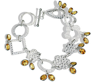 Design 12942: yellow citrine contemporary bracelets