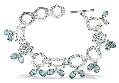 Design 12953: blue blue topaz contemporary bracelets
