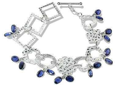 Design 12968: blue iolite contemporary bracelets