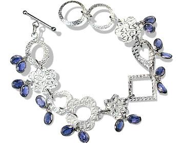 Design 12973: blue iolite contemporary bracelets