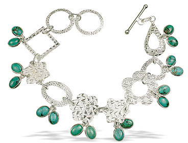 Design 12974: green turquoise contemporary bracelets