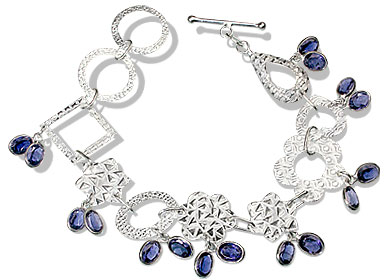 Design 12975: blue iolite contemporary bracelets