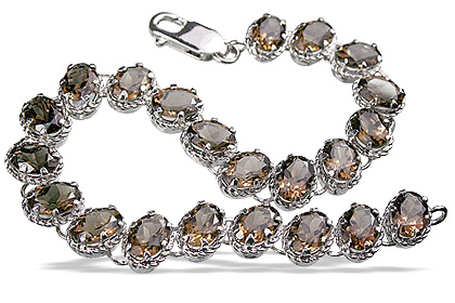 Design 12977: brown smoky quartz estate bracelets