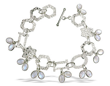 Design 13038: white moonstone contemporary bracelets