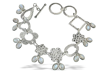 Design 13039: white moonstone contemporary bracelets