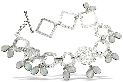 Design 13040: white moonstone contemporary bracelets