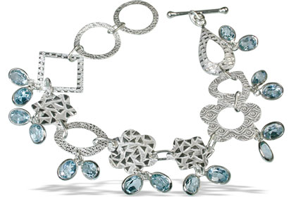 Design 13043: blue blue topaz contemporary bracelets