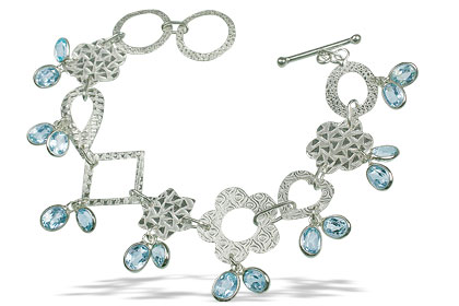 Design 13044: blue blue topaz contemporary bracelets