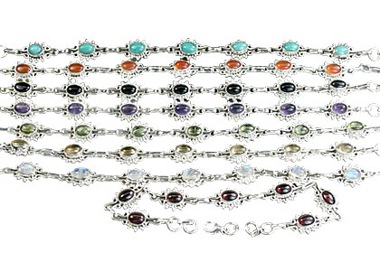Design 14361: multi-color bulk lots bracelets
