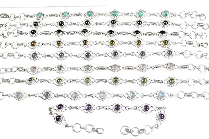 Design 14368: multi-color bulk lots bracelets