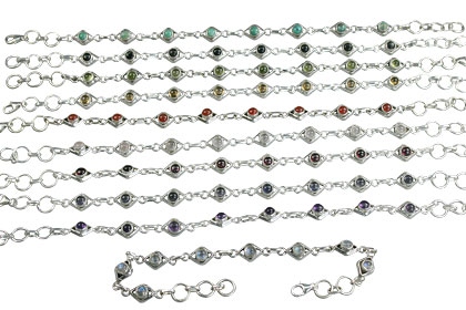 Design 14369: multi-color bulk lots bracelets