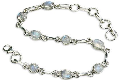 Design 14480: white moonstone contemporary bracelets