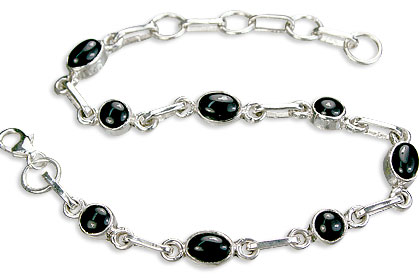 Design 14482: black black onyx contemporary bracelets